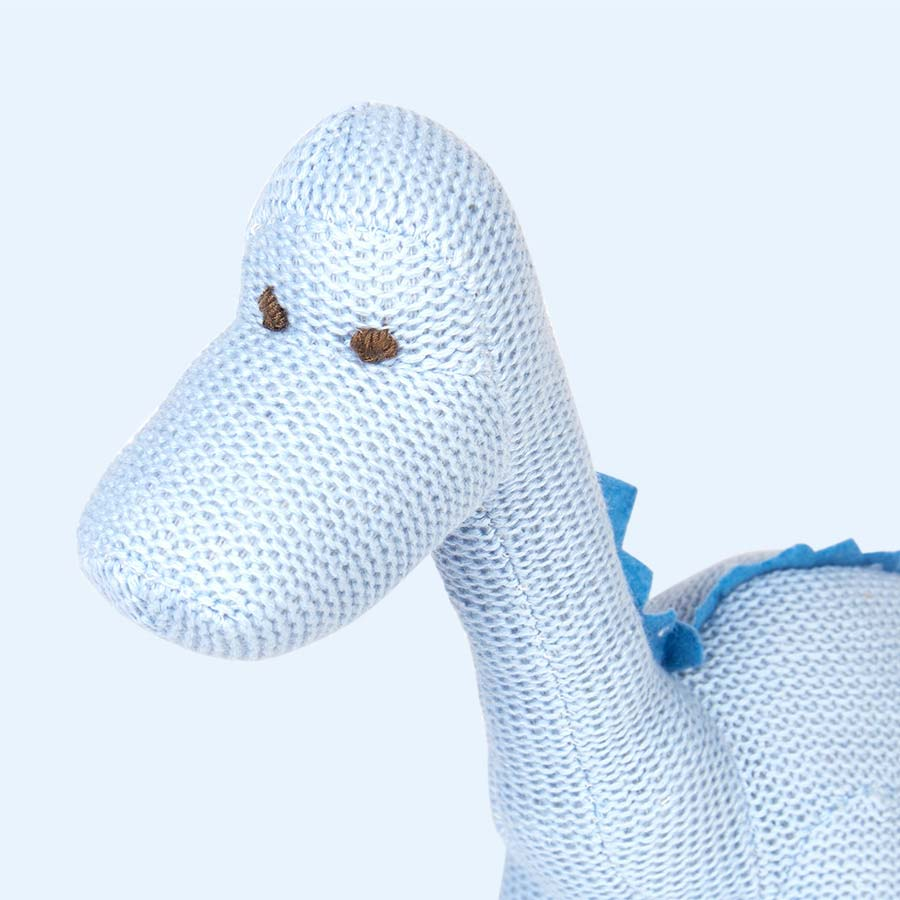 Blue Pebble Organic Cotton Diplodocus