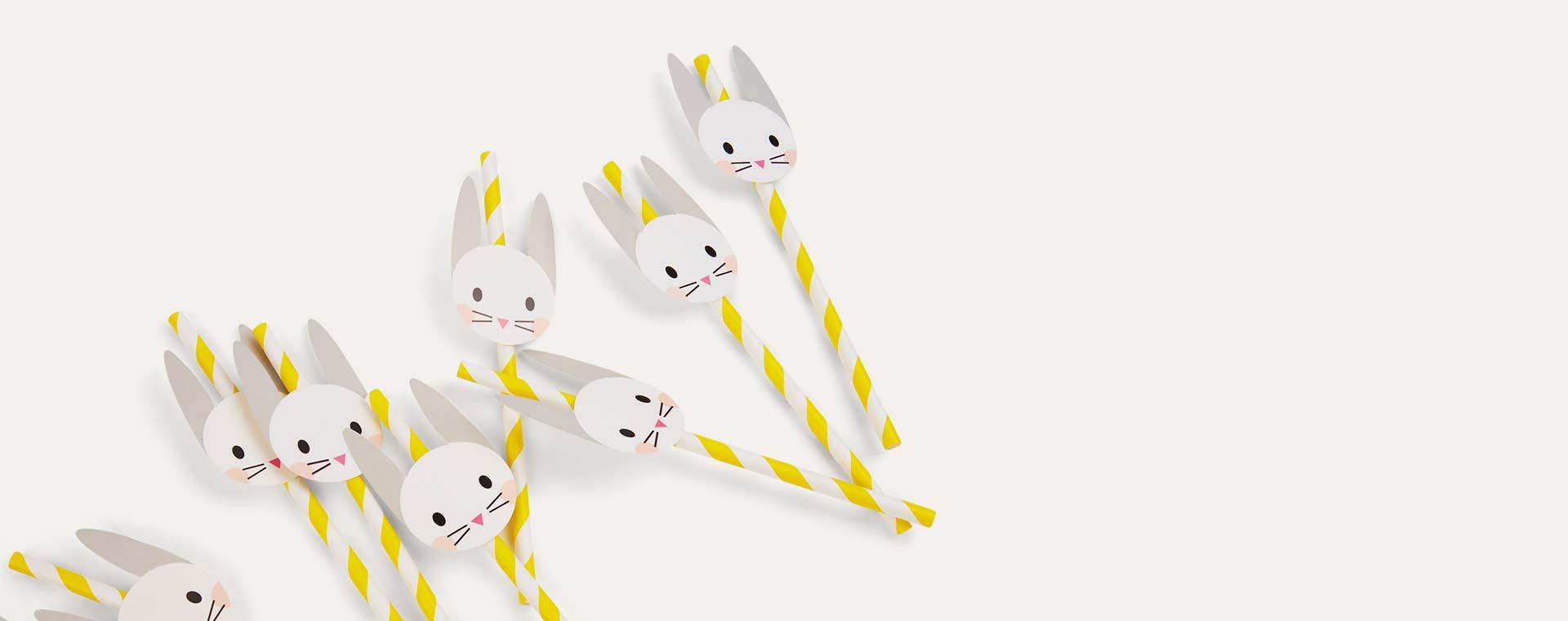 Rabbit My Little Day Rabbit Paper Straws