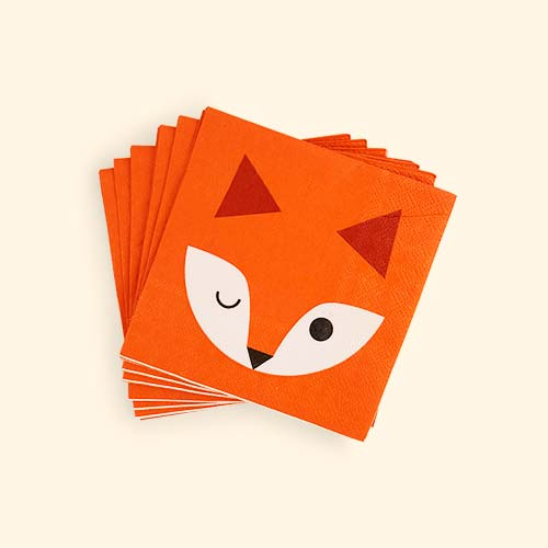 Fox My Little Day Mini Fox Paper Napkins - 20 Pack & Buy the My Little Day Mini Fox Paper Plates. Tried u0026 Tested by KIDLY ...
