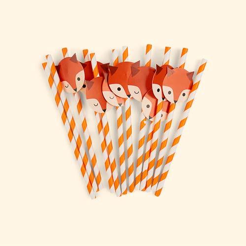 Fox My Little Day Mini Fox Paper Straws  sc 1 st  KIDLY & Buy the My Little Day Mini Fox Paper Plates. Tried u0026 Tested by KIDLY ...