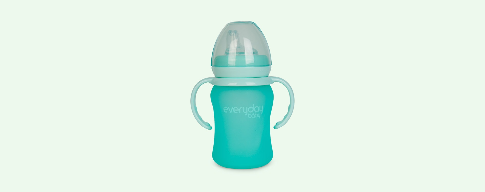 Mint Green Everyday Baby Glass Sippy Cup