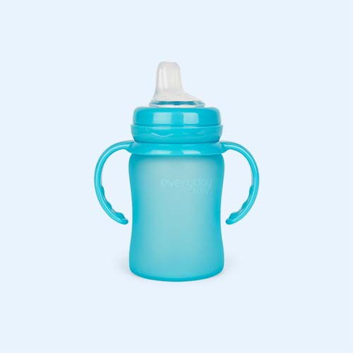 Turquoise Everyday Baby Glass Sippy Cup