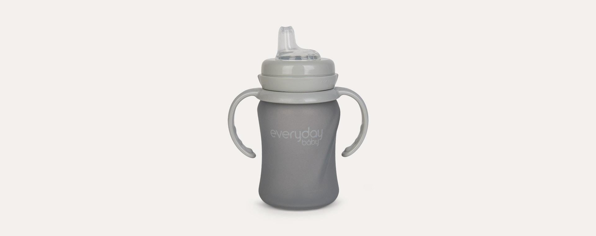 Grey Everyday Baby Glass Sippy Cup