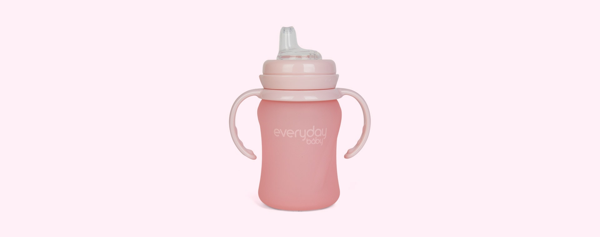Rose Pink Everyday Baby Glass Sippy Cup