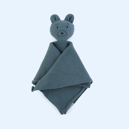 Mr Bear Whale Blue Liewood Milo Rabbit Knit Cuddle Cloth