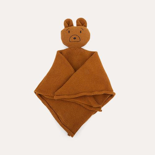 Mr Bear Golden Caramel Liewood Milo Rabbit Knit Cuddle Cloth