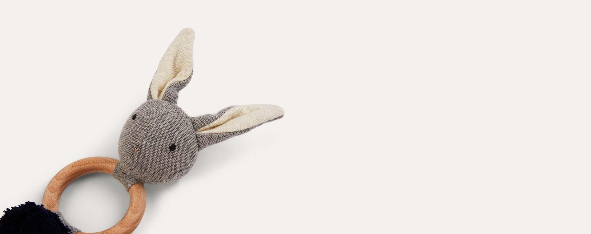 Grey Liewood Aria Rabbit Rattle