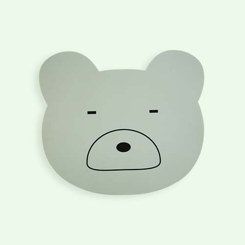 Dusty Mint Liewood Aura Bear Placemat