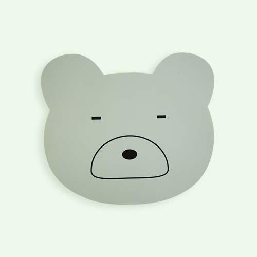 Dusty Mint Liewood Aura Bear Placemat