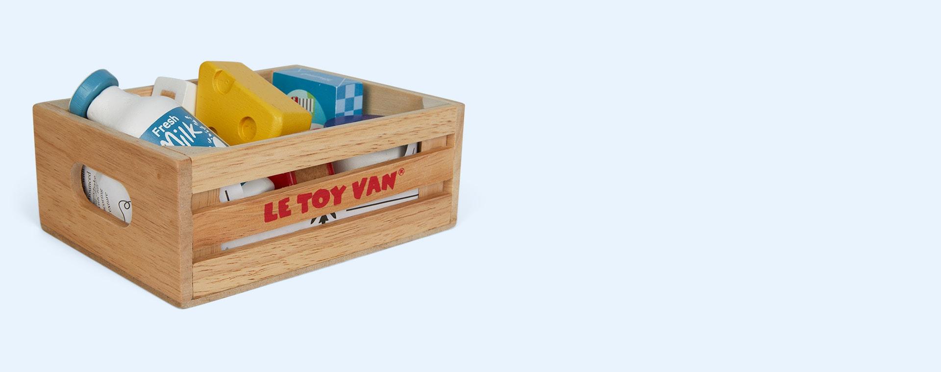 Multi Le Toy Van Cheese & Dairy Crate Set