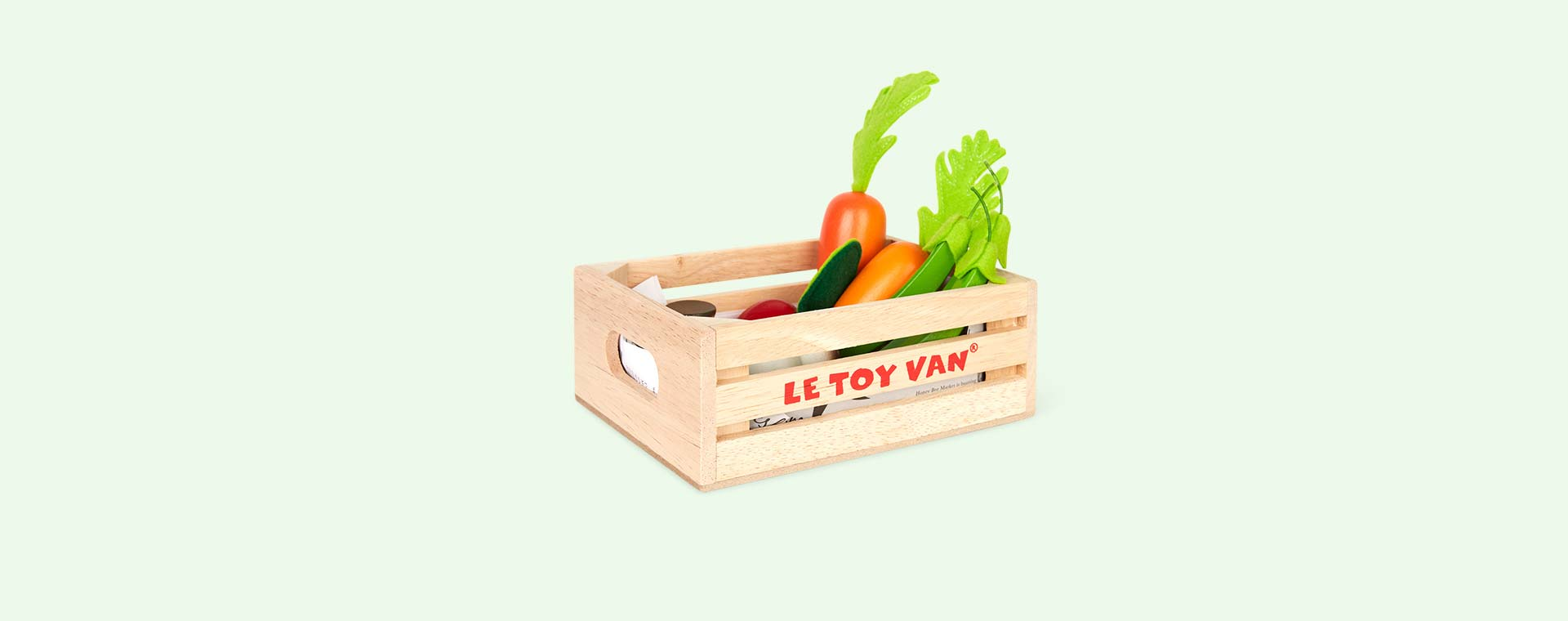 Multi Le Toy Van Five A Day Vegetable Crate Set
