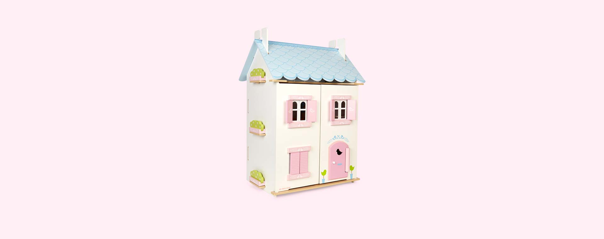 Multi Le Toy Van Blue Bird Cottage With Furniture