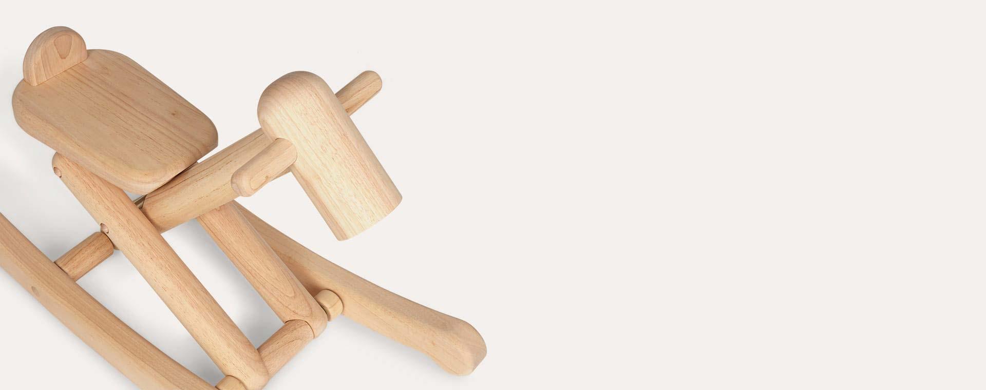 Wooden Plan Toys Folding Rocking Horse