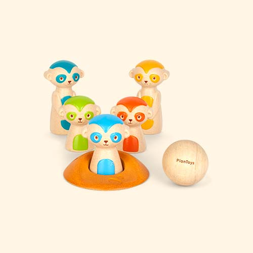 Meercat Plan Toys Meerkat Bowling Game
