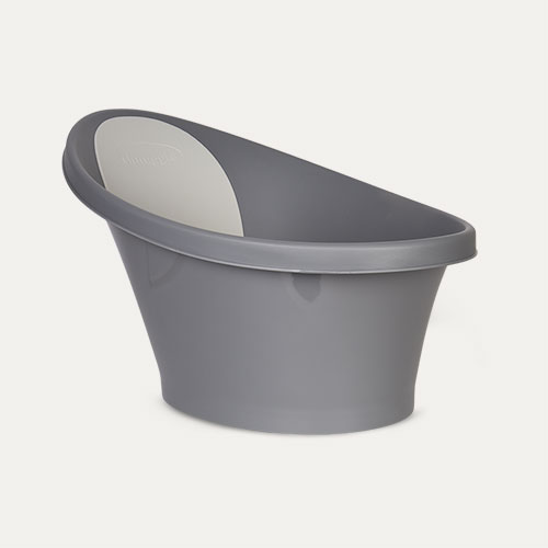 Slate Grey Shnuggle Bath with Foam Backrest