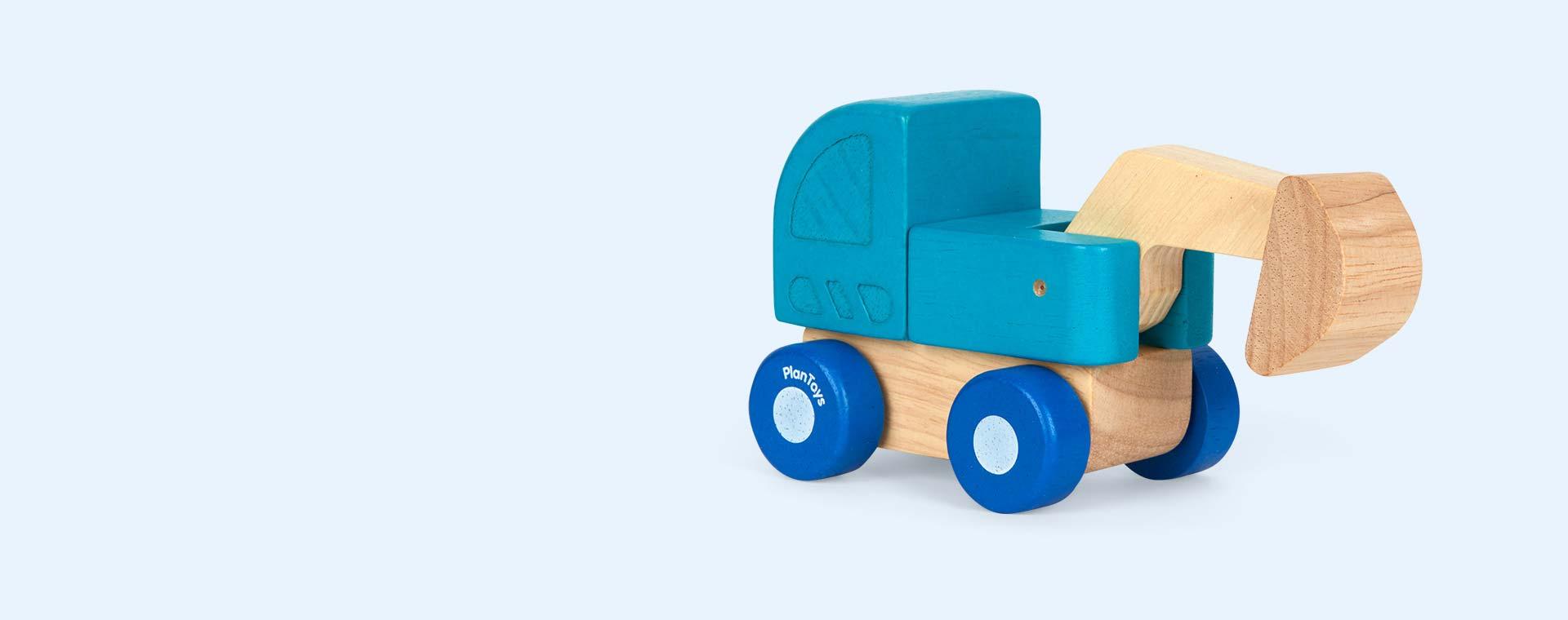Blue Plan Toys Mini Excavator
