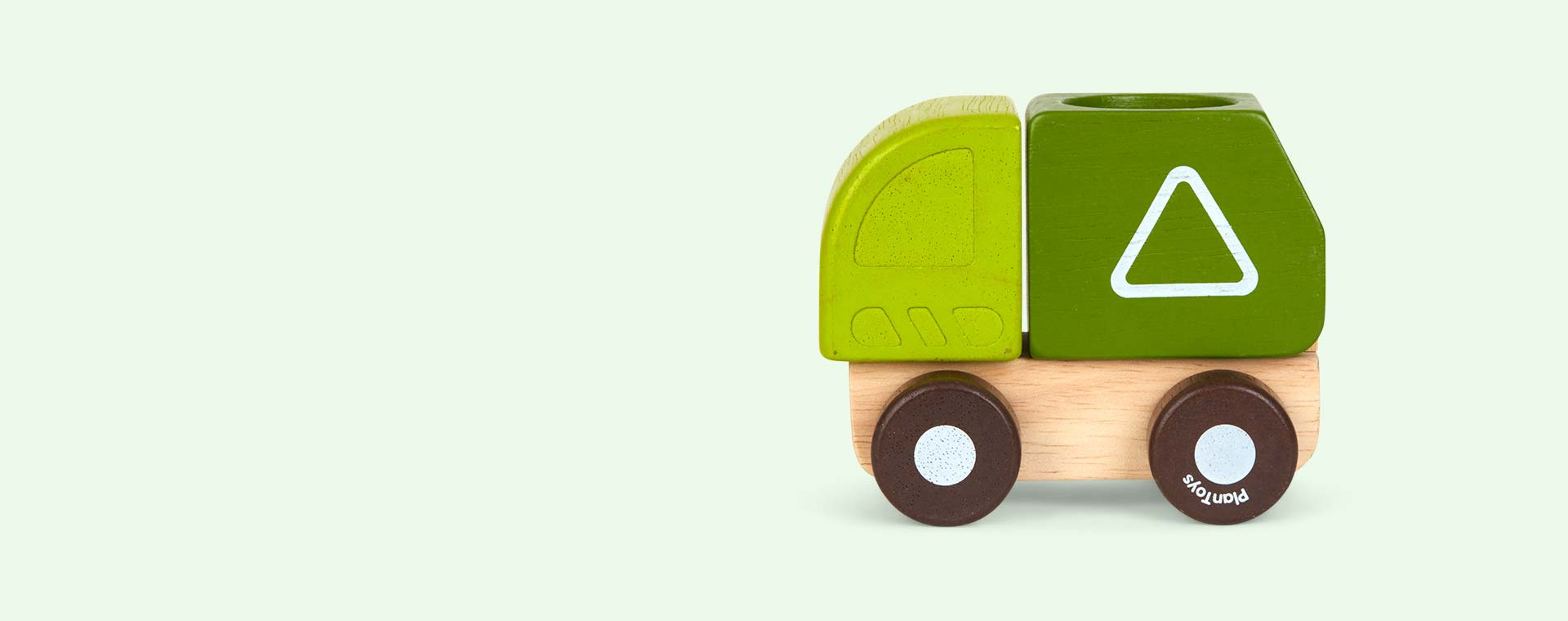Green Plan Toys Mini Garbage Truck