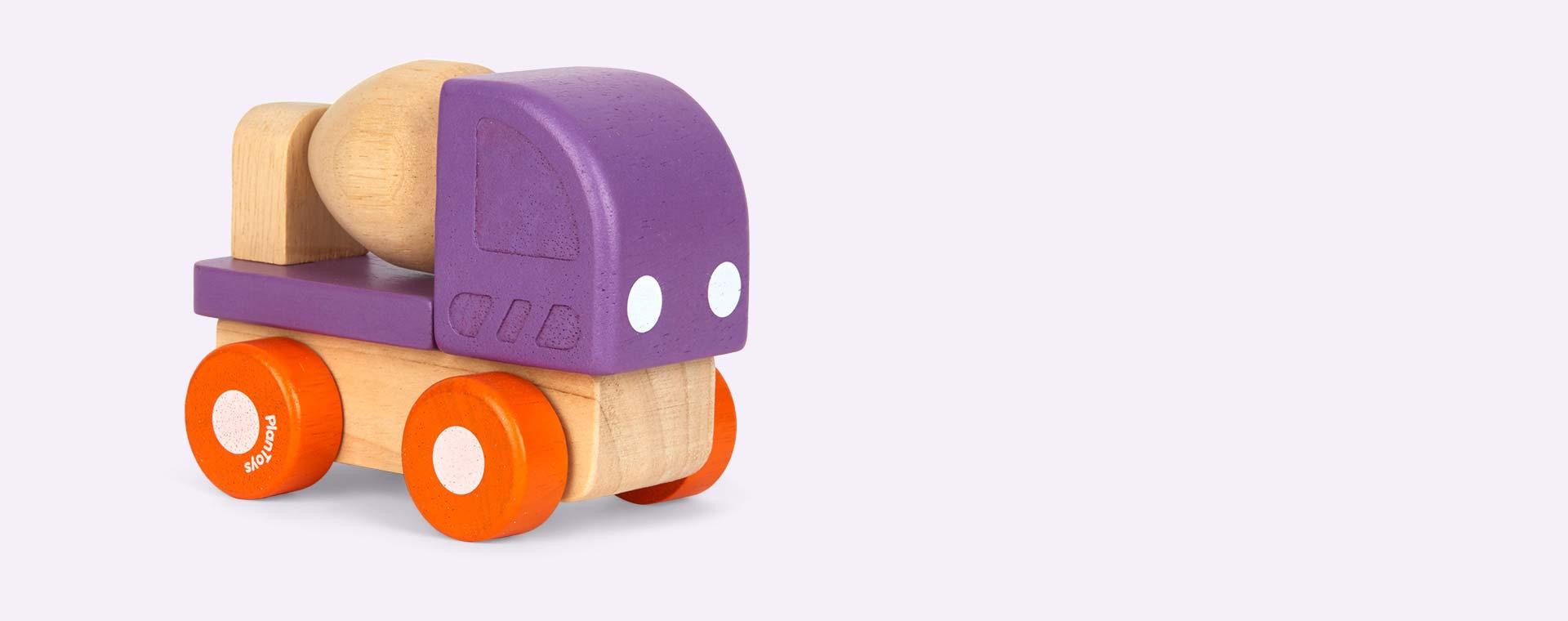 Purple Plan Toys Mini Cement Mixer