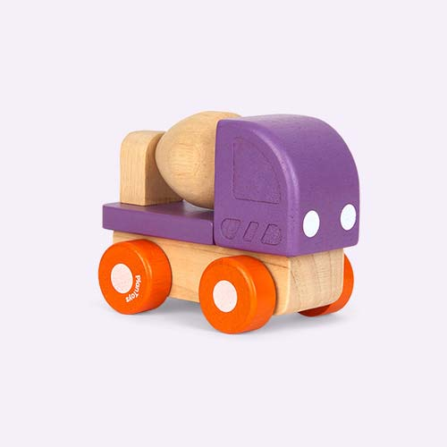 Purple Plan Toys Mini Cement Mixer