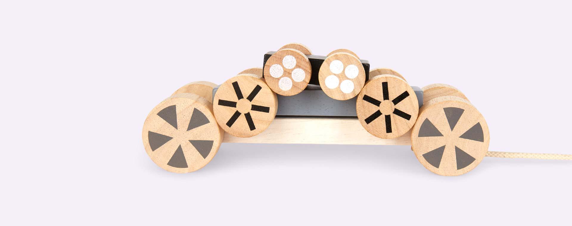 Monochrome Plan Toys Stacking Wheels