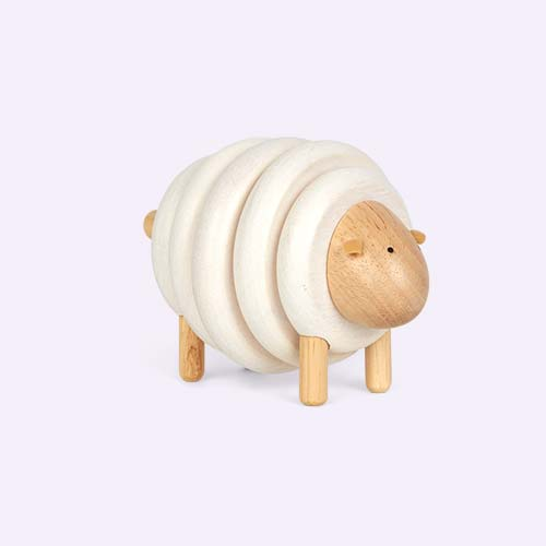 White Plan Toys Lacing Sheep