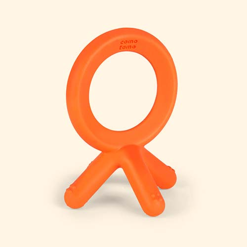 Orange Comotomo Teether Toy
