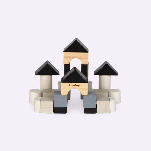 Monochrome Plan Toys Construction Set
