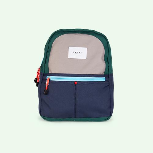 Navy/Green STATE Bags Mini Kane Colour Block Backpack