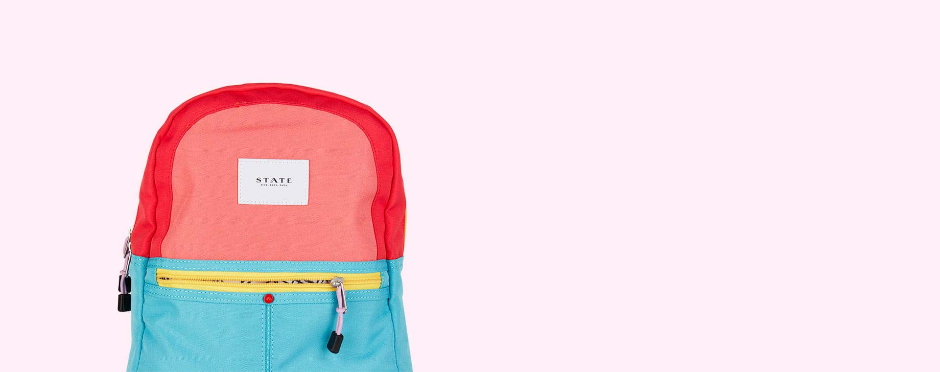 Pink/Mint STATE Bags Mini Kane Colour Block Backpack