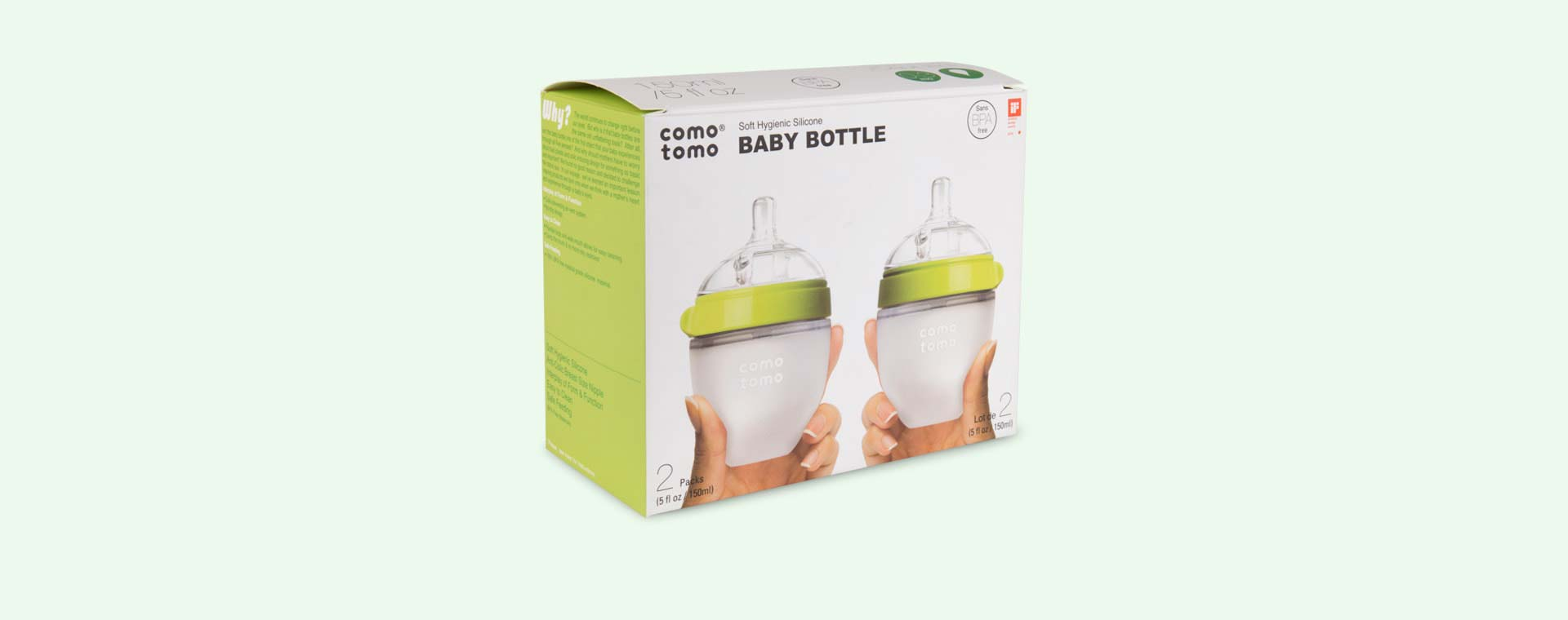 Green Comotomo 5oz Twin Bottle