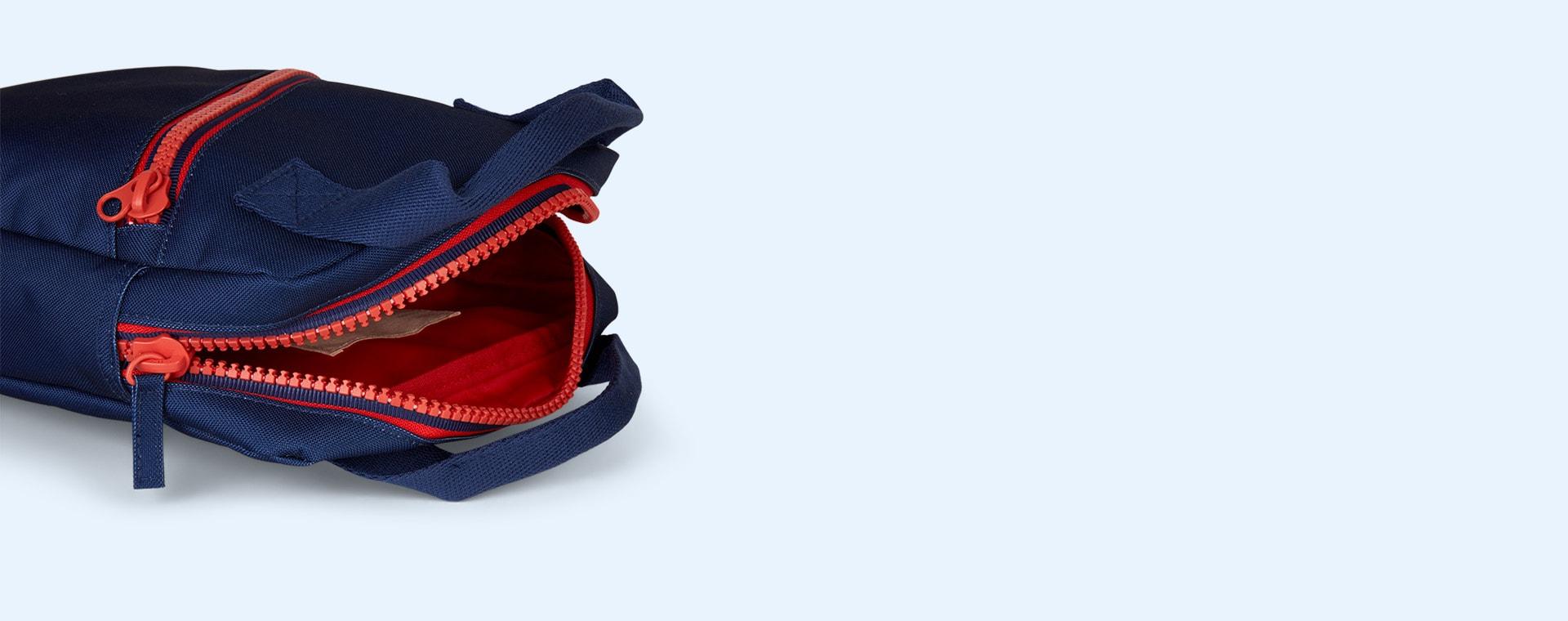 Navy Engel Zipper Backpack