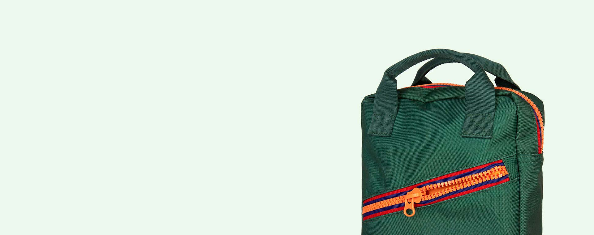 Green Engel Zipper Backpack