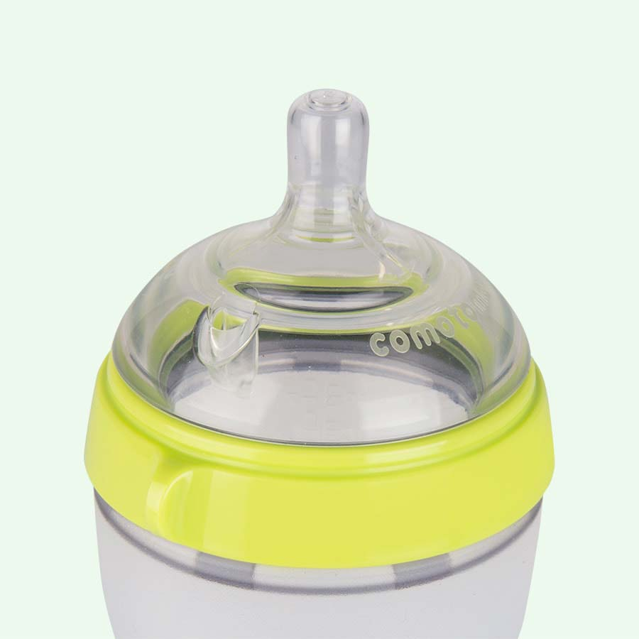 Buy The Comotomo 8oz Single Bottle At Kidly 250 Ml Twin Pack Green