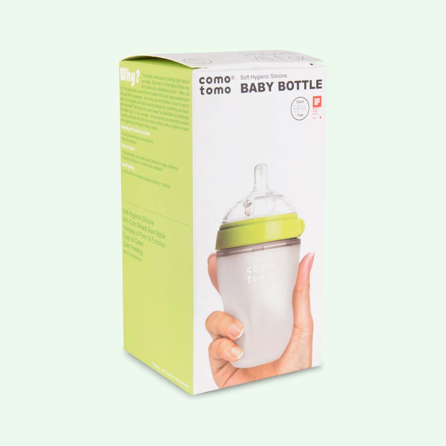 Green Comotomo 8oz Single Bottle