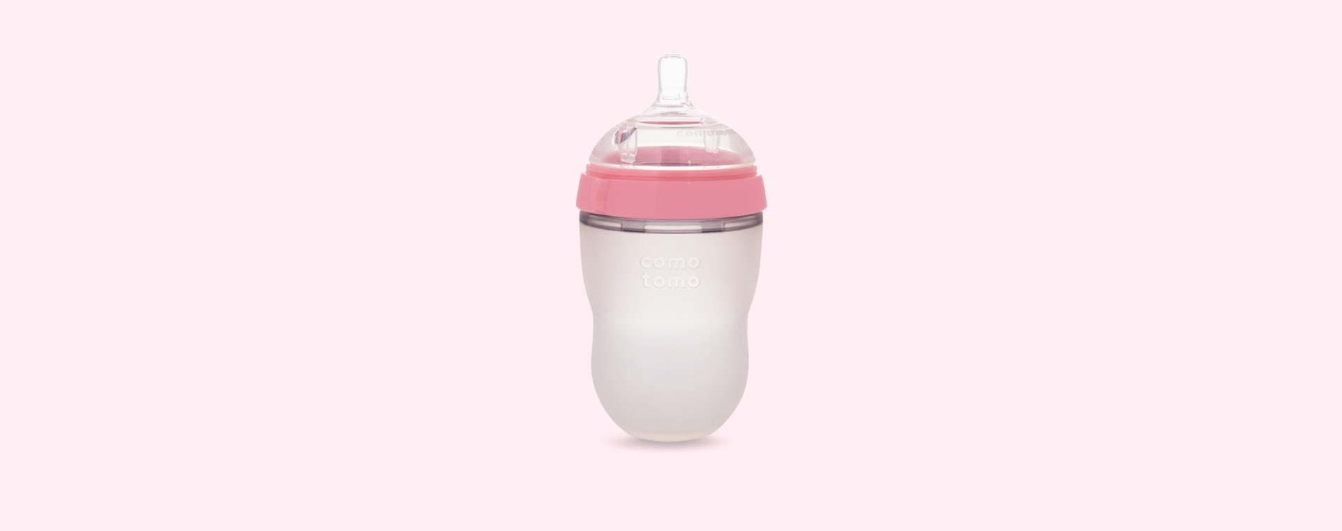 Pink Comotomo 8oz Single Bottle
