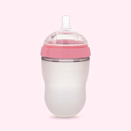 Pink Comotomo 8oz Single Bottle
