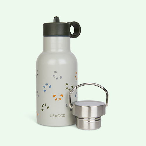 Panda Hunter Green Multi Mix Liewood Anker Water Bottle