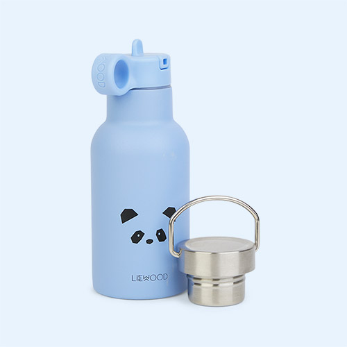 Panda Sky Blue Liewood Anker Water Bottle