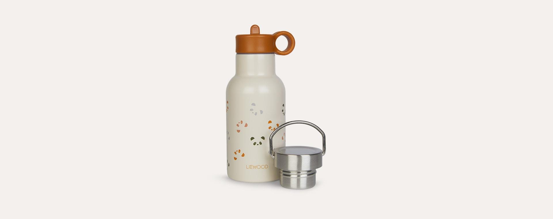 Panda Mustard Multi Mix Liewood Anker Water Bottle