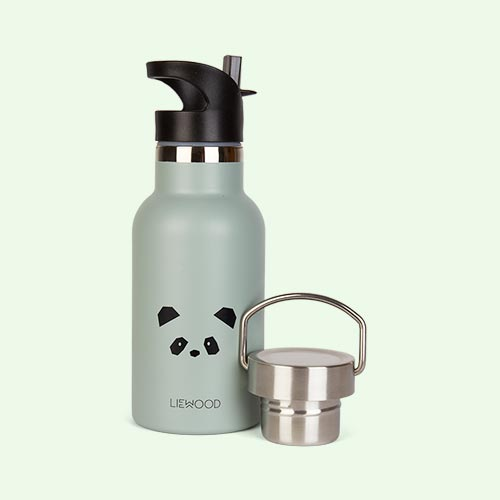 Panda Dusty Mint Liewood Anker Water Bottle