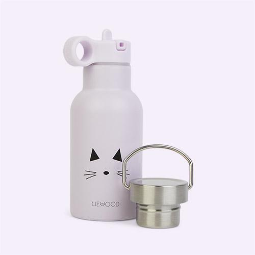Cat Light Lavender Liewood Anker Water Bottle