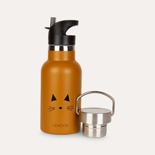 Cat Mustard Liewood Anker Water Bottle