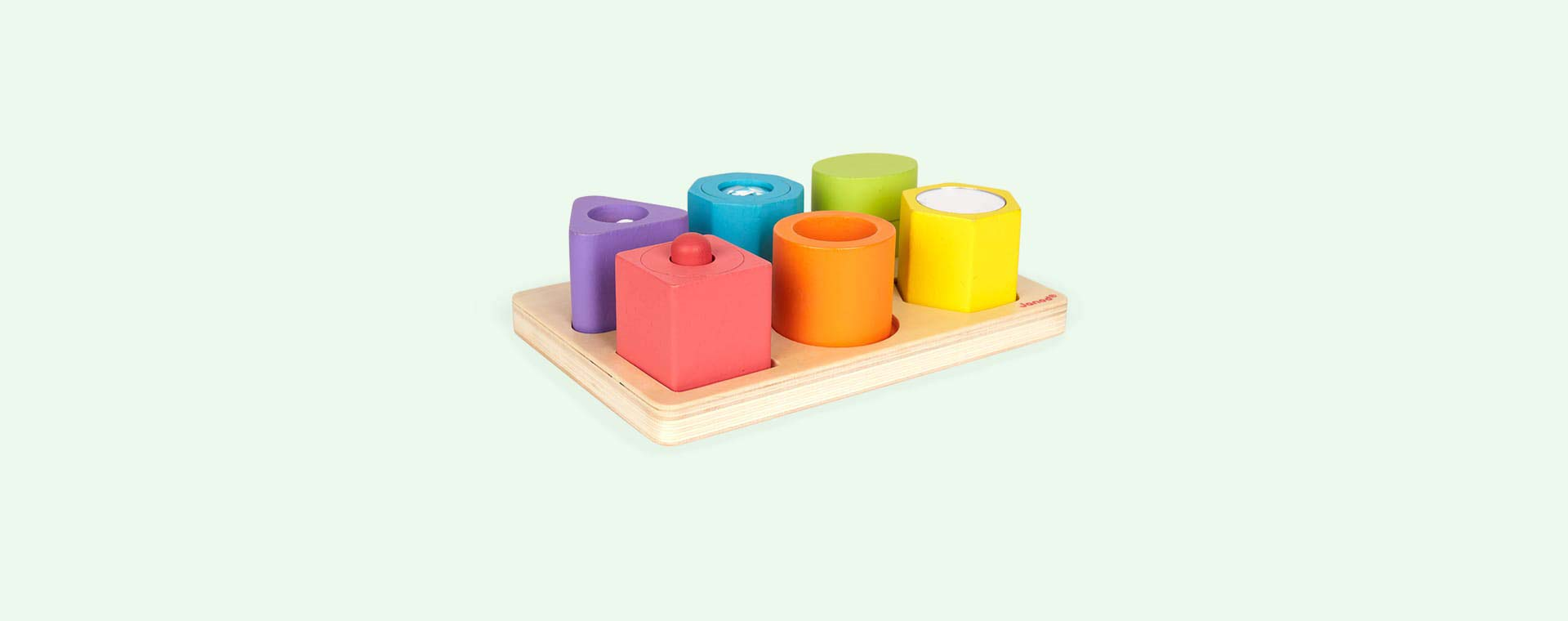 Multi Janod I Wood Shapes & Sounds 6 Block Puzzle