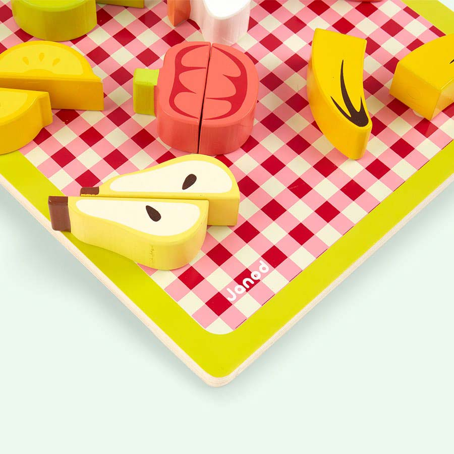 Multi Janod Wooden Chunky Fruit And Vegetables