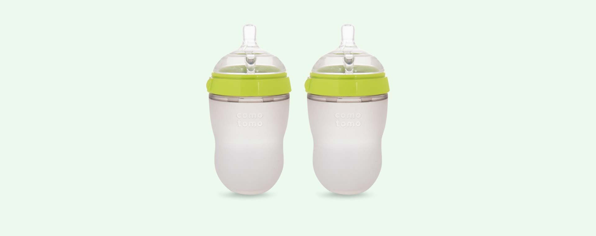 Green Comotomo 8oz Twin Bottle