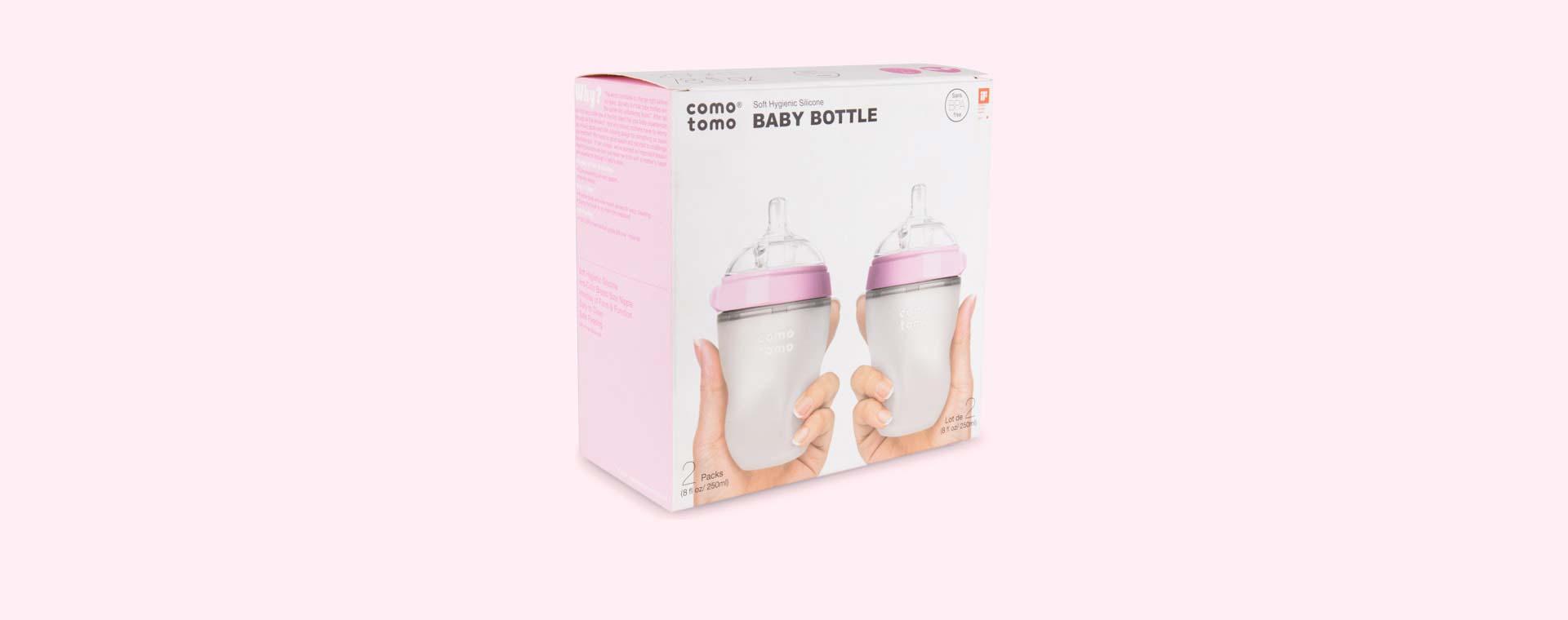 Pink Comotomo 8oz Twin Bottle