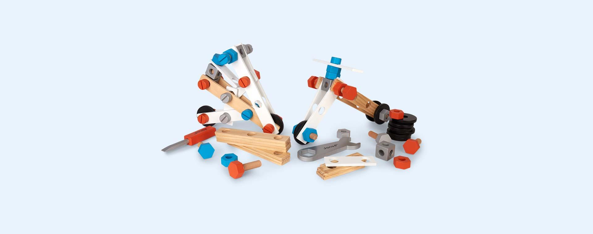 Multi Janod Brico'Kids DIY Barrel - 100 Pieces