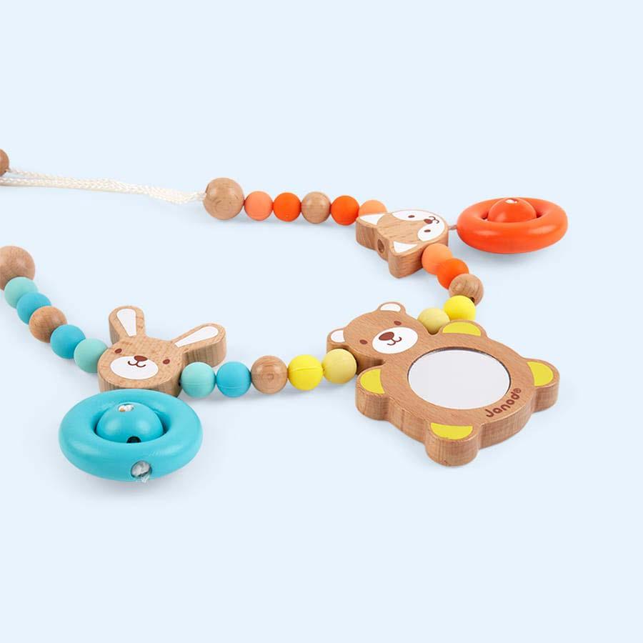 Blue Janod Baby Pop Pram Chain