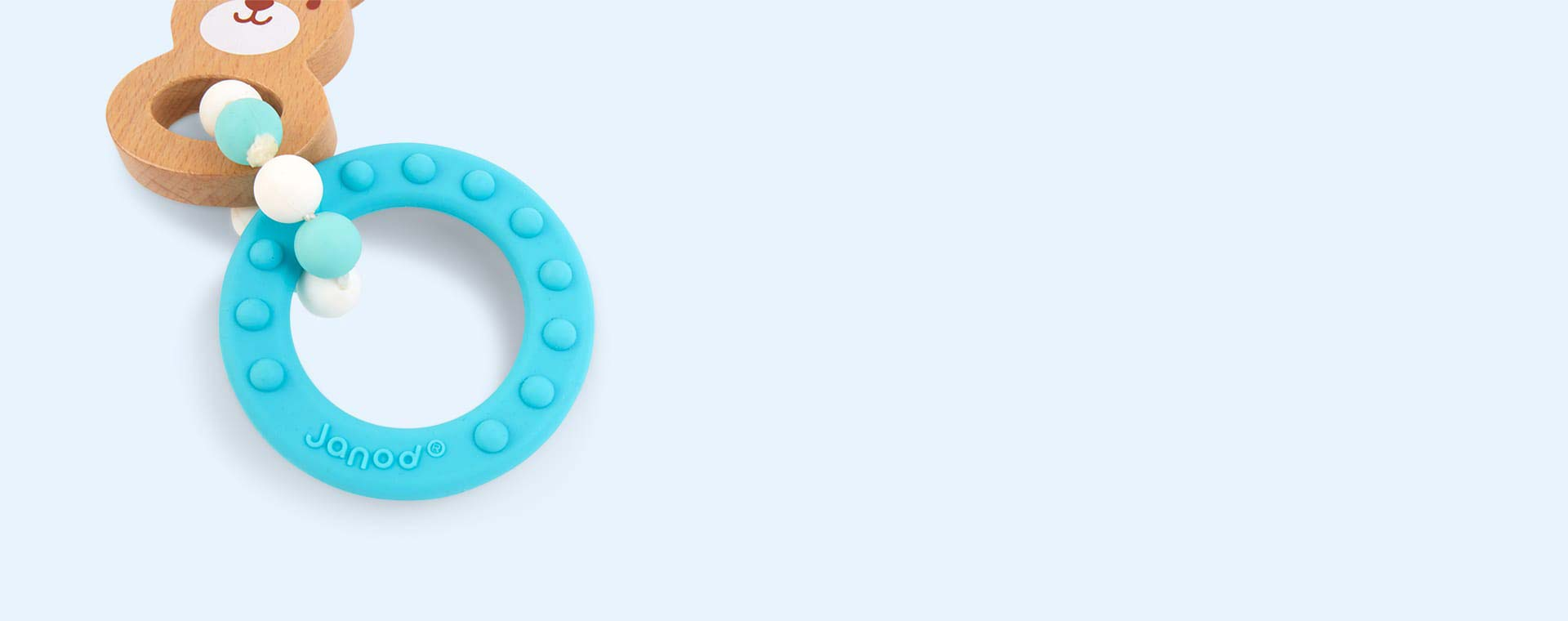 Neutral Janod Baby Pop Bunny Teething Ring