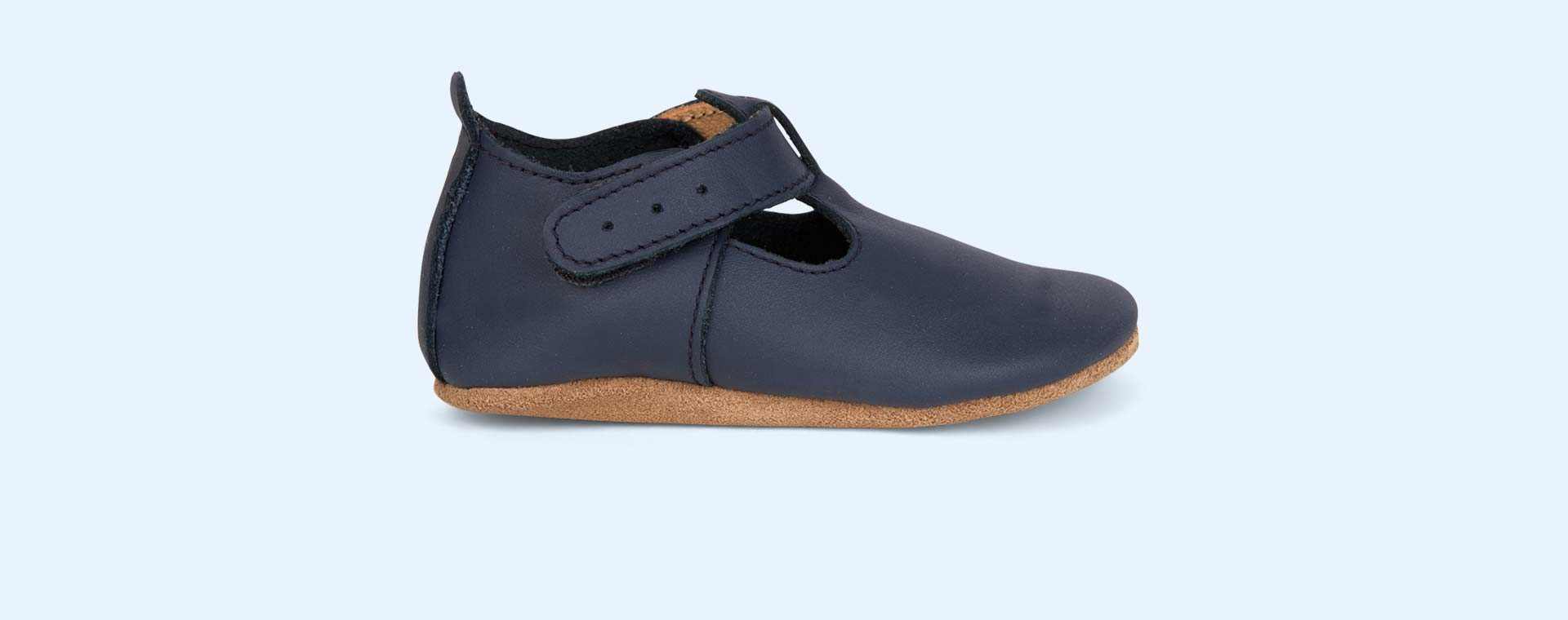 Navy Bobux Jack N Jill Soft Sole T-Bar